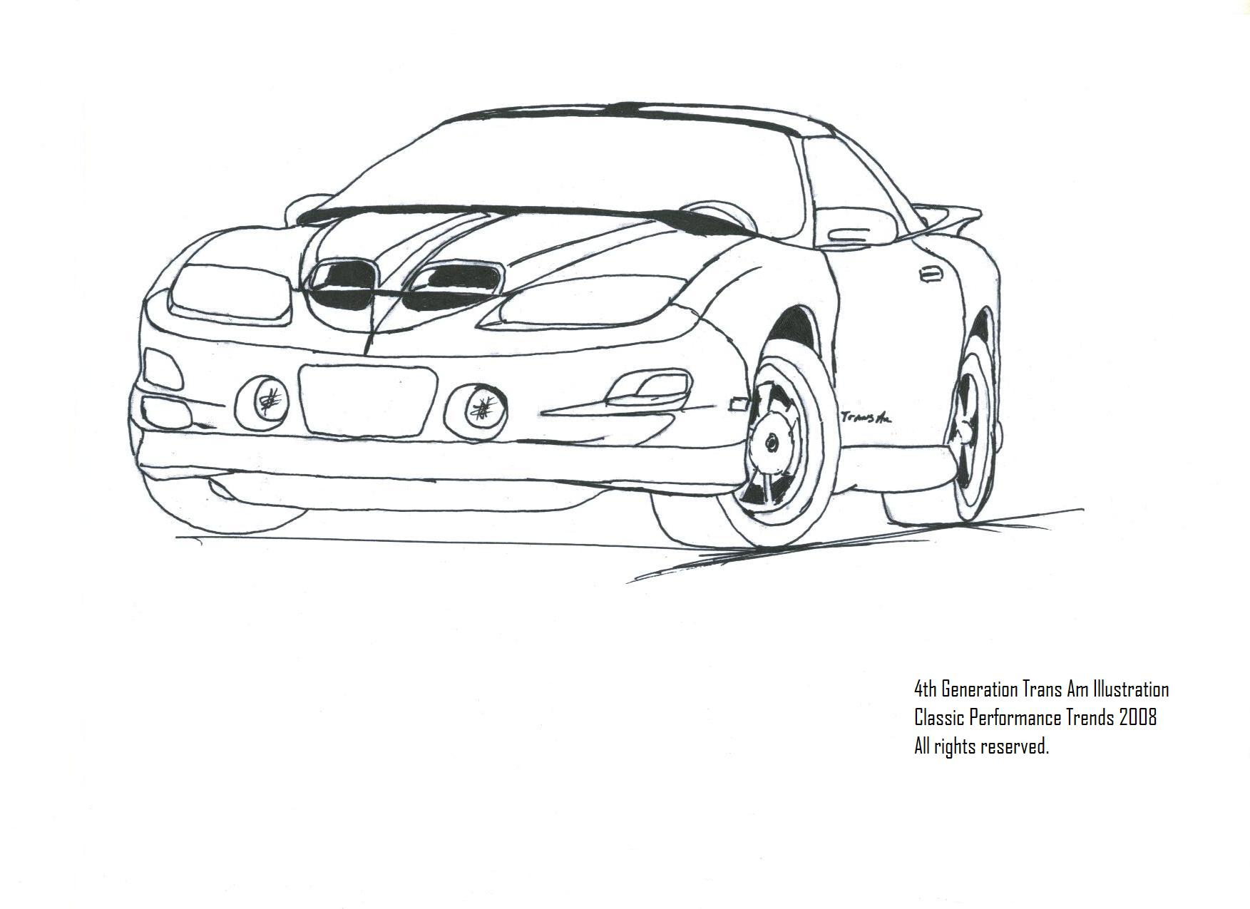 firebird car drawing